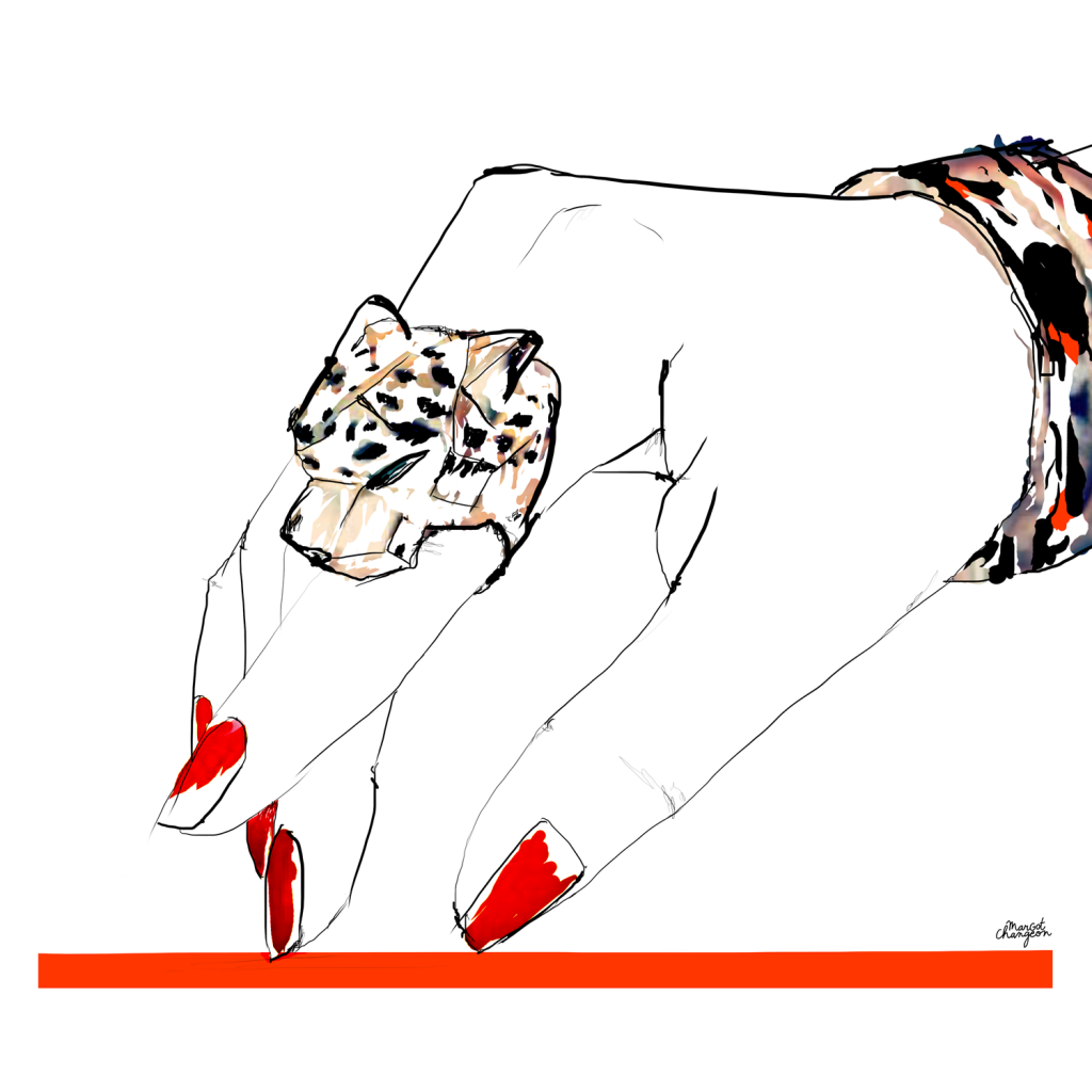 Illustration bijou bague Cartier par Margot Changeon