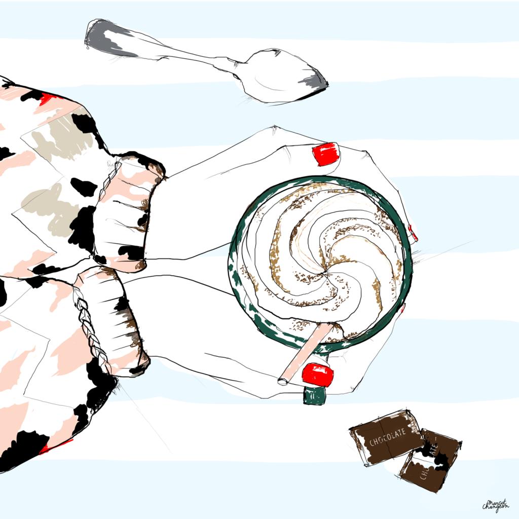Illustration café et chocolat par Margot Changeon