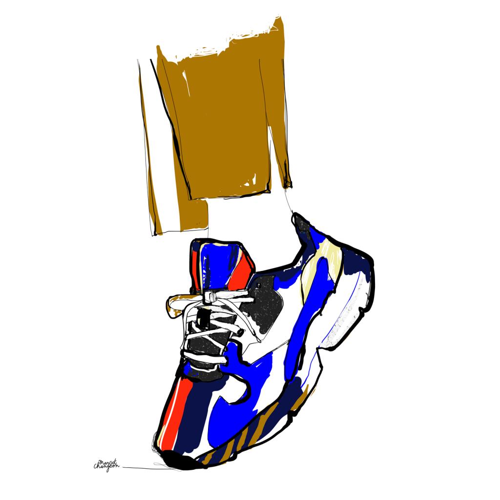 Fashion sneakers - Illustration baskets colorées mode par Margot Changeon