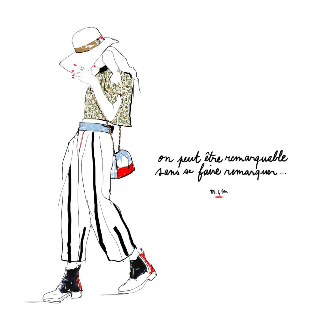 Illustration femme printanière par Margot Changeon