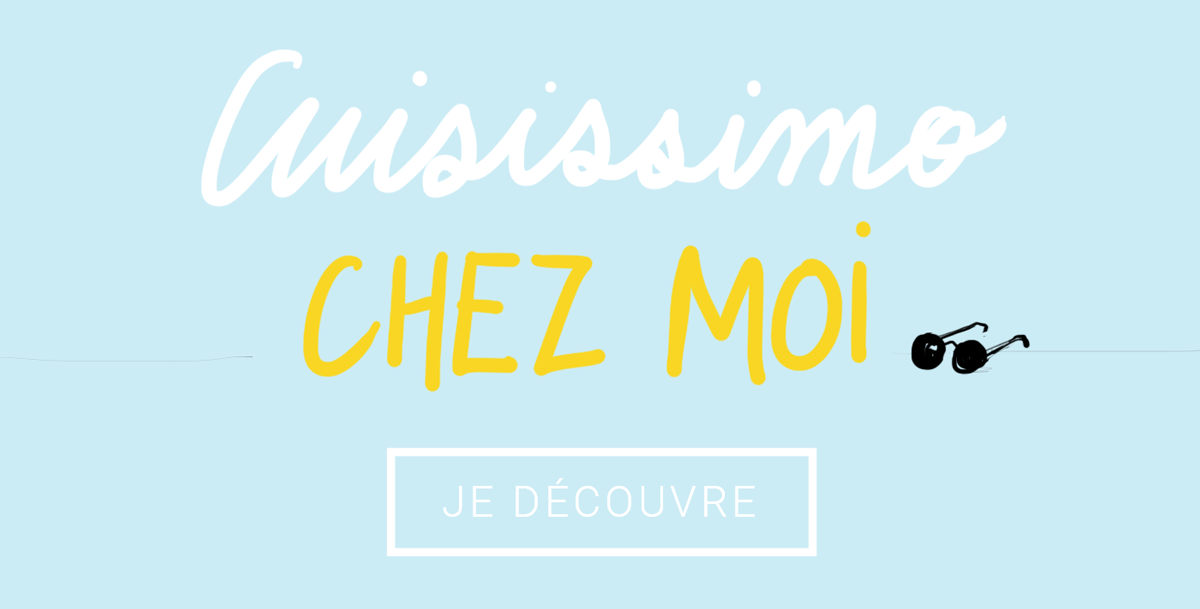 Illustration, graphisme, design graphique web pour le site e-commerce d'équipement de cuisine Cuisissimo par Margot Changeon