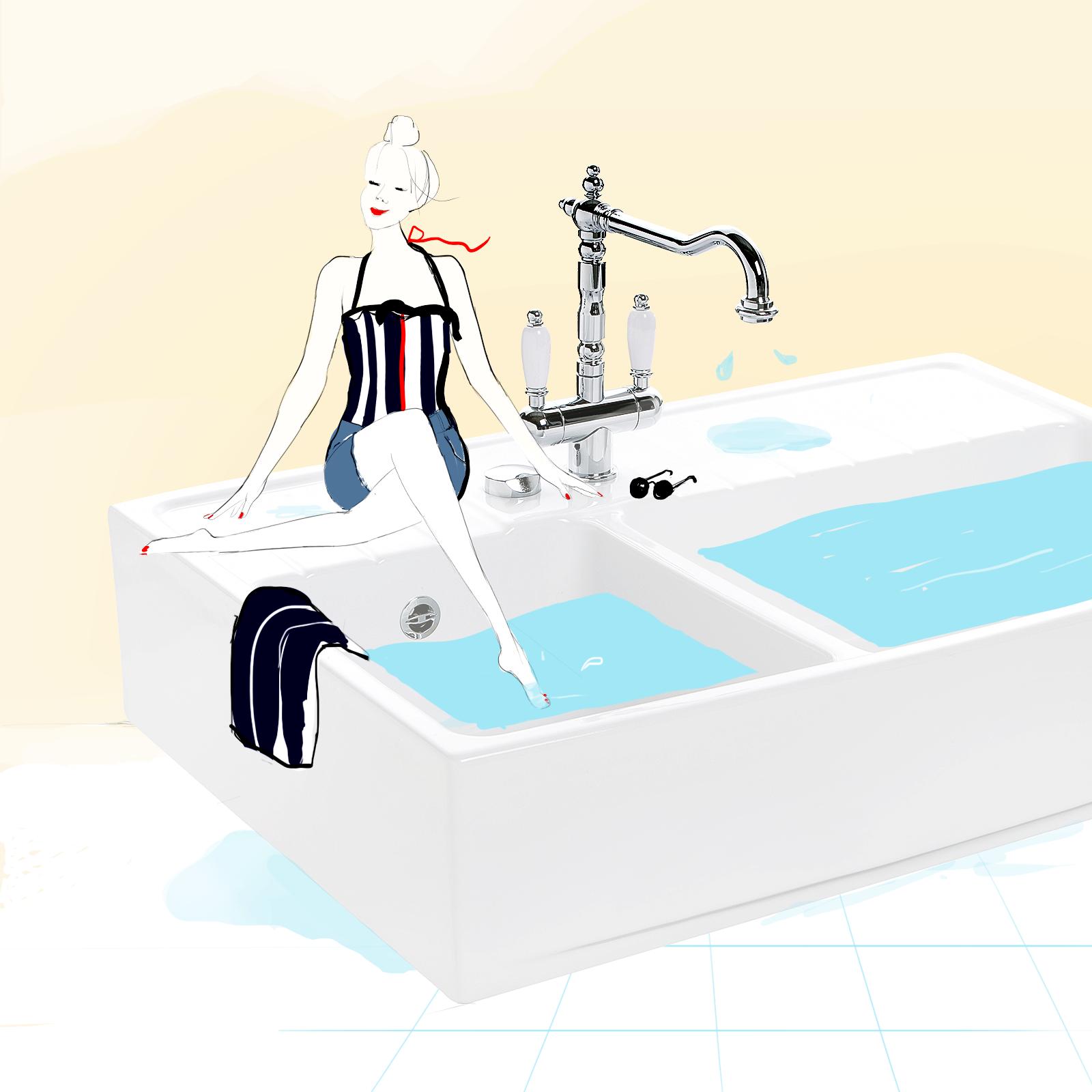 Illustration, graphisme, design graphique web pour l'équipement de cuisine Cuisissimo par Margot Changeon